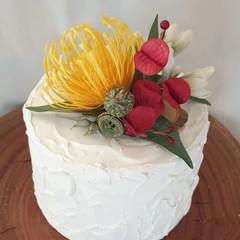 Cake Topper Silk Flowers Australian Natives