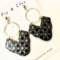 Moroccan dangle clay earrings