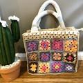 Granny square tote bag, market bag, sport bag, handmade limited edition bag.