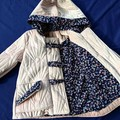 Quilted Pale Pink Velvet Duffle Coat Size 1