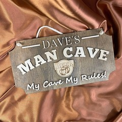 Personalised Man Cave Sign , Gift for Him - Kalghi Crafts Co