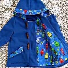 Blue Fleece Duffle Coat Sizes  2, 3 and 4
