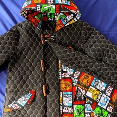 Black Quilted Duffle Coat Size 6