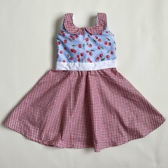 Red Cherries Country Style Dress - Girls  Size 2