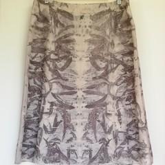 Plant-dyed Linen Skirt - Upcycled Skirt - Eco-fashion - Size 16