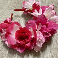 Pink Fairy Flower Crown Headband