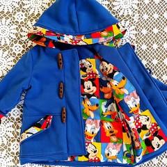 Blue Fleece Duffle Coat Size 1