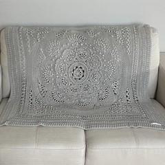 'Baby Arcadia' Heirloom quality Handmade Baby Blanket  50% cotton/50% Bamboo