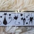 Wristlet Key Fob - Black Cats