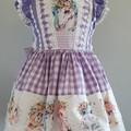 Lilac unicorn border dress  size 1-6