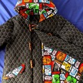 Black Quilted Duffle Coat Size 6, 8, 10