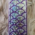Wristlet Key Fob - Purple Mermaid Scales
