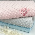 Embroidered baby birth blanket | Practical keepsake | Personalised gift idea