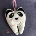 Tooth Fairy Plush, Panda. Custom Embroidered