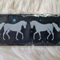 Wristlet Key Fob - Grey Horses