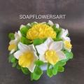 Soaps flowers arrangement, bouquet.