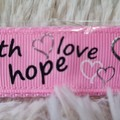 Wristlet Key Fob - Faith, Hope, Love
