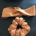 Headband and scrunchie