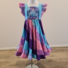 Frozen swirly dress - bib style bodice