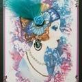 """Fabulous and Feathered Gigi"" Handmade Greeting Card"