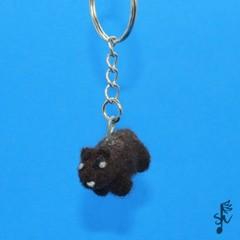 Wombat Keyring - Handmade Wool Felt Animal