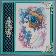 """Gorgeous Gigi"" Handmade Greeting Card - Blank, Birthday, Special Occasion"