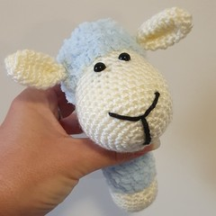 Crochet Sheep Rattle, Kids Rattle, Sheep Amigurumi, Soft Sheep Toy, Handmade Rat