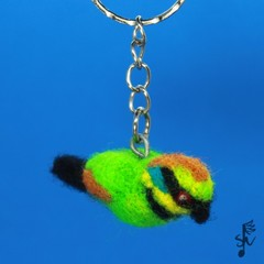Rainbow Bee-Eater Keyring - Handmade Wool Felt Bird