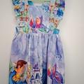 Princess flutter sleeve dress