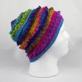 Hat hanndmade 100% acrylic spring autumn crocheted slouch/loose back
