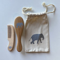 Elephant baby hair brush and comb set