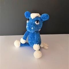 A beautiful, soft blue velvet pony