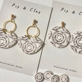 Dotted circle earrings