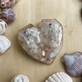 Rainbow Moonstone, Rose Quartz , Selenite and Copper Energy Heart