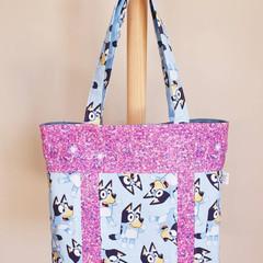 Girl's Bluey handbag / library bag / dance bag