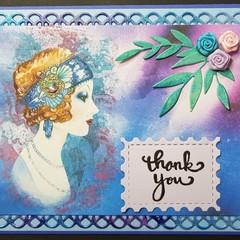 """""""Leafy Gigi"""" - Blank Birthday Thanks"""