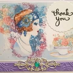 """Pearl Gigi"" - Blank Birthday Thanks"