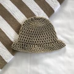 Neutral toned baby bucket hats