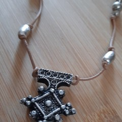 Boho necklace with Vintage accents