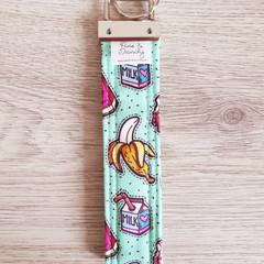 Key Fob, Wristlet Keychain - Mint Foody