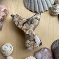 Amethyst, Aventurine, Selenite and Shell Mermaid Tail (small)