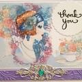 """Pearl Gigi"" - Blank Birthday Thanks, Personalised"