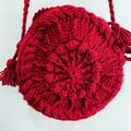 Crossbody  crochet bag, crochet round bag, shoulder bag, limited edit
