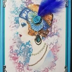 """Fabulous and Feathered Gigi"" Handmade Greeting Card, Birthday, Personalised"