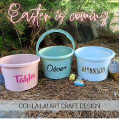 Personalised Easter Buckets for EGG-CELLENT egg hunting