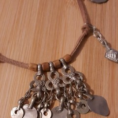 Boho necklace with Vintage Tribal accents