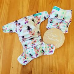 OSFM Reusable Cloth Nappy - Groovy Giraffe