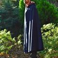 Wool Cloak Medium Length Navy - Pure Wool