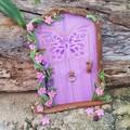 Purple Shimmer Butterfly Fairy Door