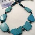 Blue Howlite Necklace